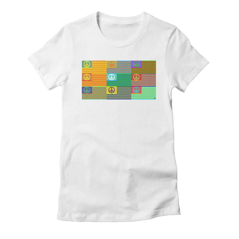 United Peace Flag Women's Fitted T-Shirt by Armando Padilla Artist Shop