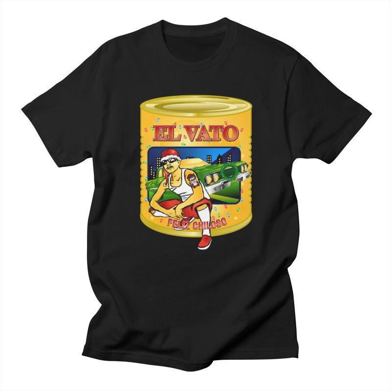 Santa Vato in Men's Regular T-Shirt Black by Armando Padilla Artist Shop