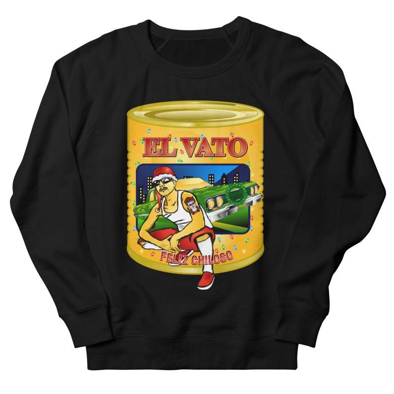 Santa Vato in Men's Sweatshirt Black by Armando Padilla Artist Shop