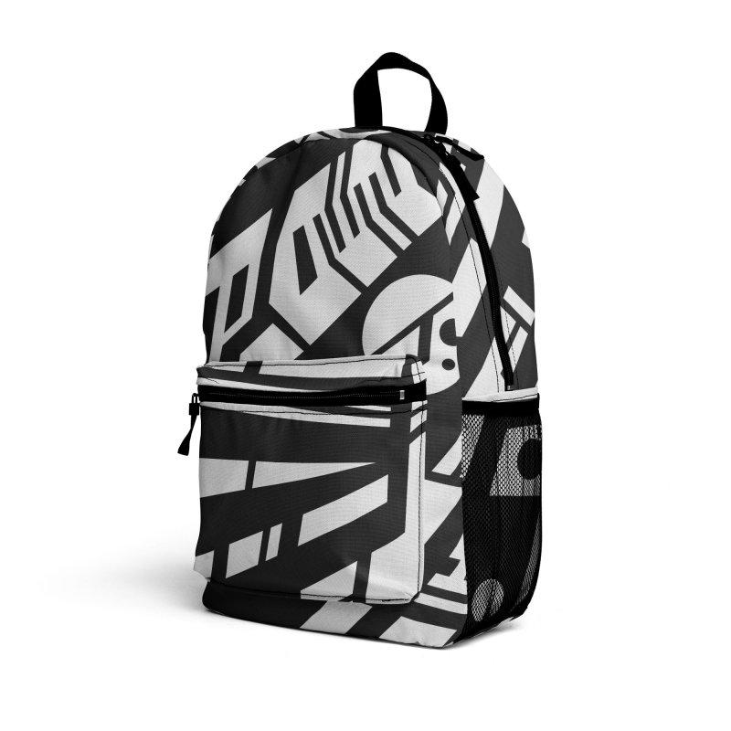 MP Guitar Stripes & Circles Accessories Bag by Armando Padilla Artist Shop