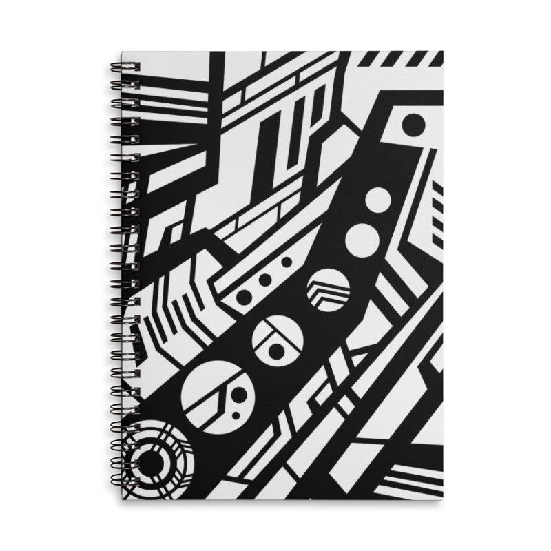 MP Guitar Stripes & Circles Accessories Notebook by Armando Padilla Artist Shop