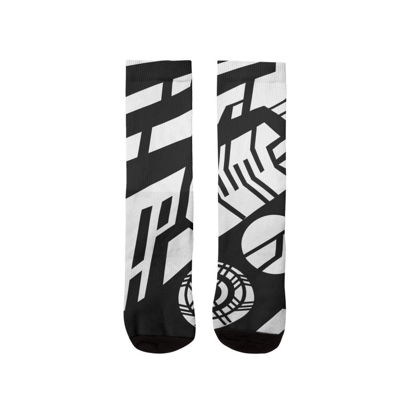 MP Guitar Stripes & Circles Men's Socks by Armando Padilla Artist Shop