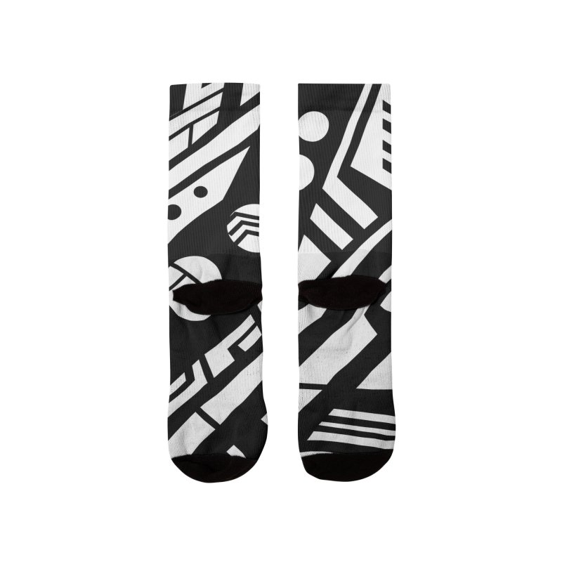 MP Guitar Stripes & Circles Women's Socks by Armando Padilla Artist Shop