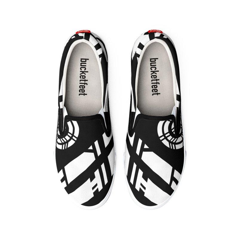 MP Guitar Stripes & Circles Women's Shoes by Armando Padilla Artist Shop