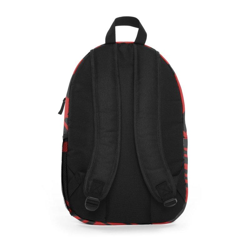 MP Guitar Stripes & Circles Red Accessories Bag by Armando Padilla Artist Shop