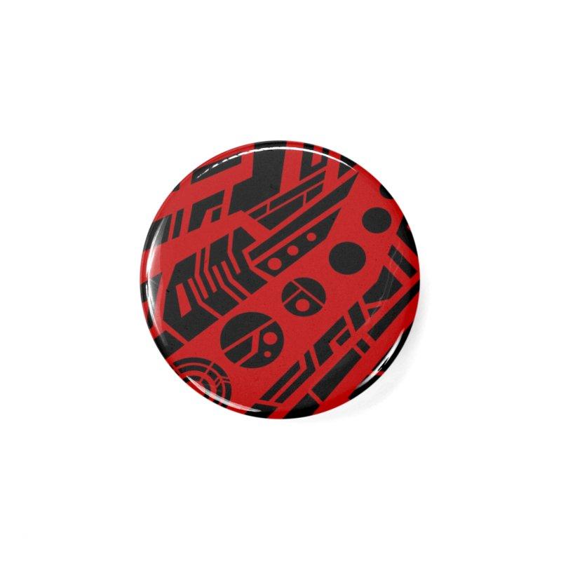 MP Guitar Stripes & Circles Red Accessories Button by Armando Padilla Artist Shop