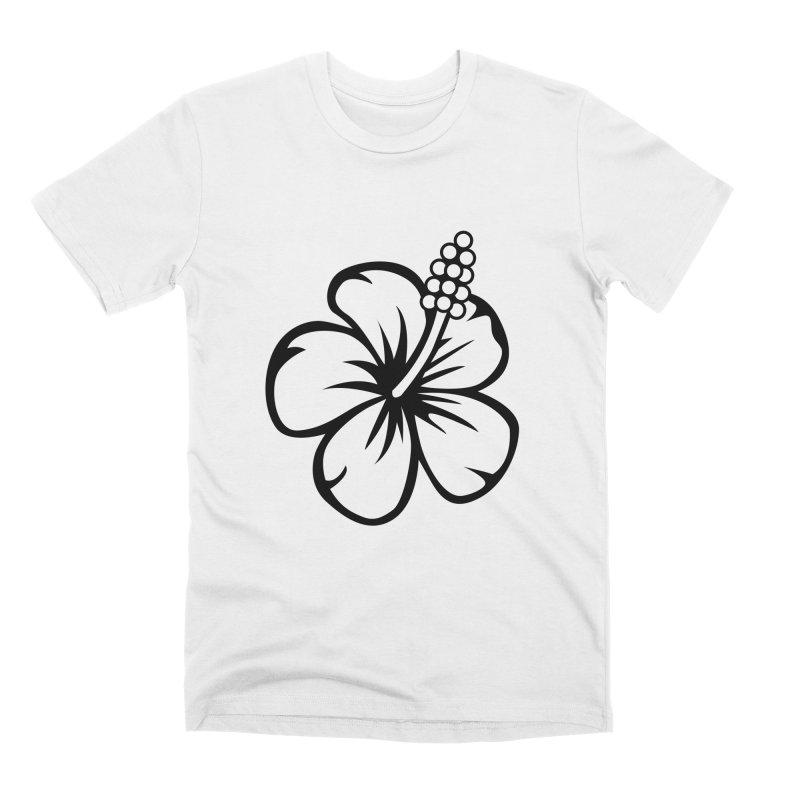 Hibiscus Blanc Men's T-Shirt by Armando Padilla Artist Shop