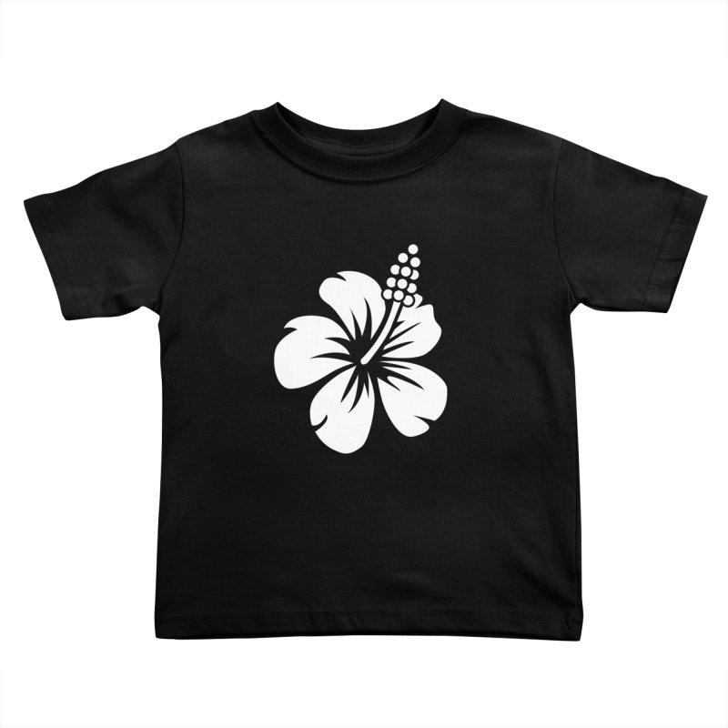 Hibiscus Blanc Kids Toddler T-Shirt by Armando Padilla Artist Shop