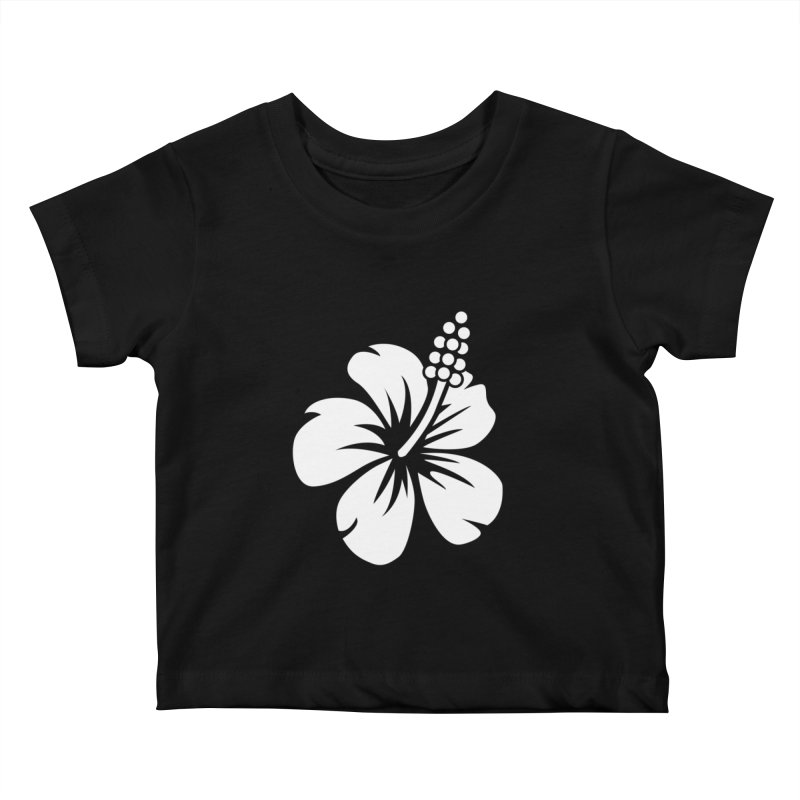 Hibiscus Blanc Kids Baby T-Shirt by Armando Padilla Artist Shop