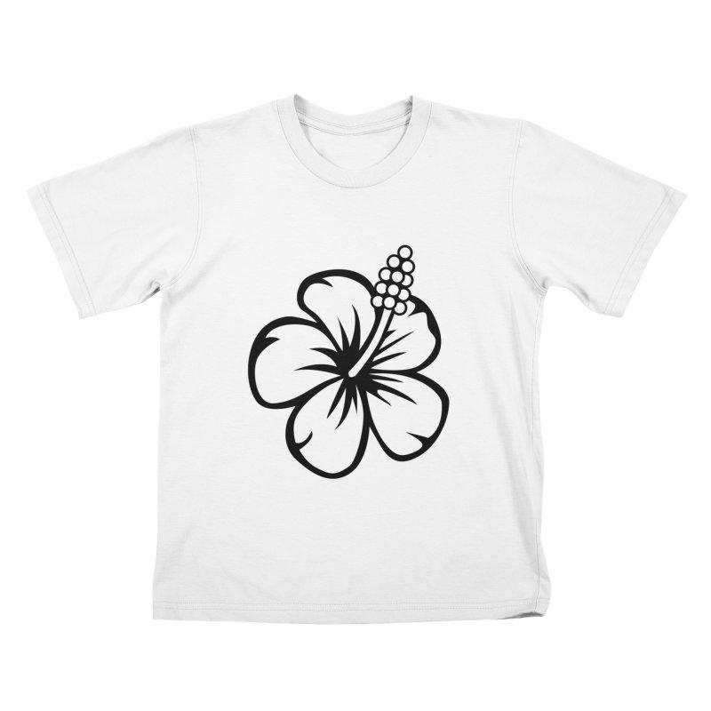 Hibiscus Blanc Kids T-Shirt by Armando Padilla Artist Shop