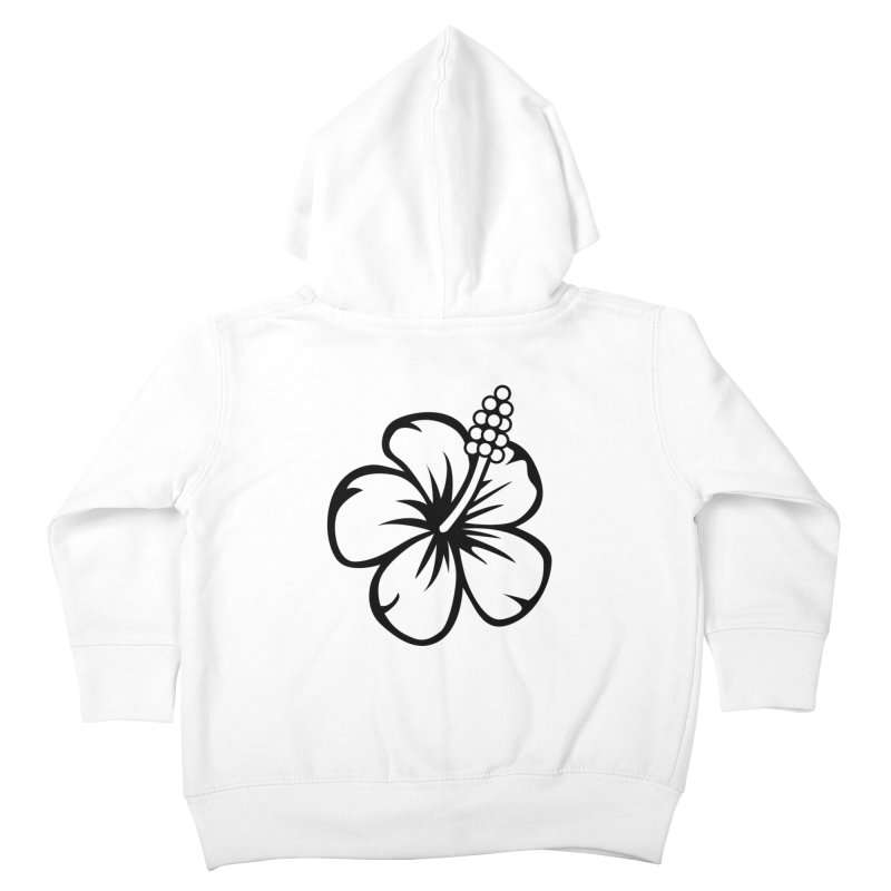 Hibiscus Blanc Kids Toddler Zip-Up Hoody by Armando Padilla Artist Shop