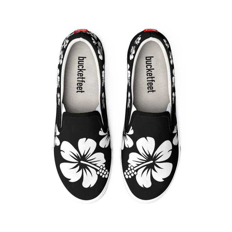 Hibiscus Blanc Women's Shoes by Armando Padilla Artist Shop