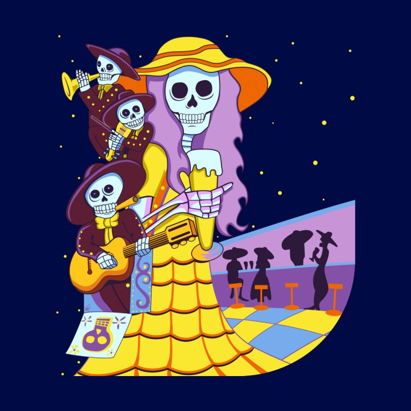 Dia De Los Muertos - Musical Brew Men's T-Shirt by Armando Padilla Artist Shop