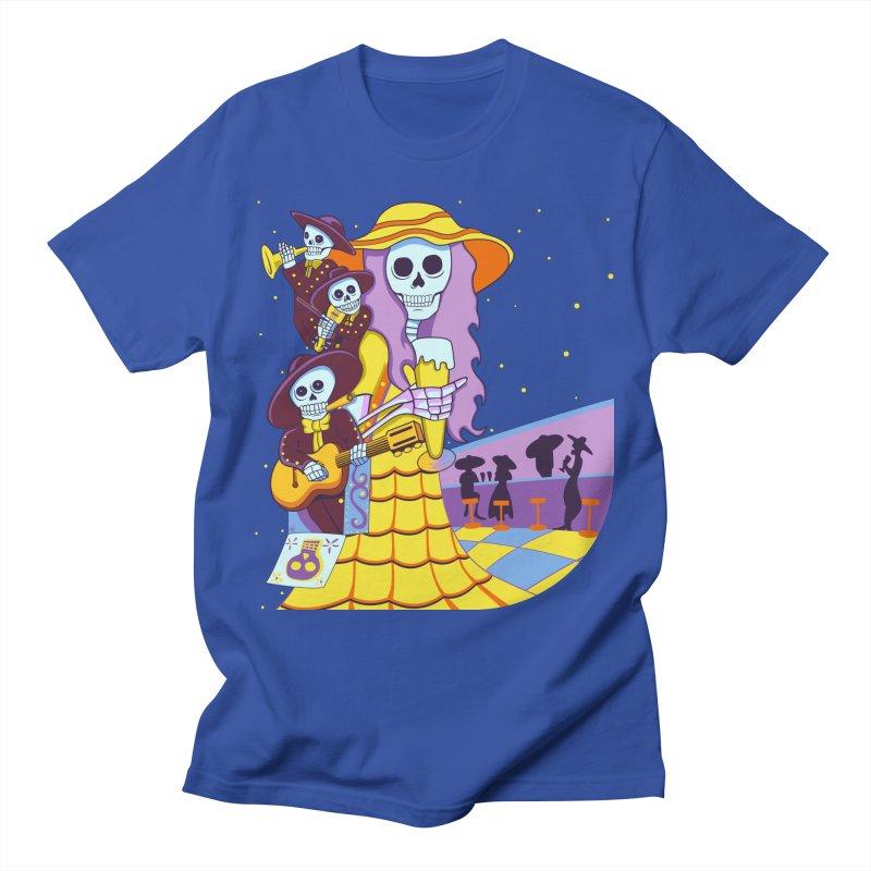 Dia De Los Muertos - Musical Brew Men's T-Shirt by Armando Padilla Artist Shop