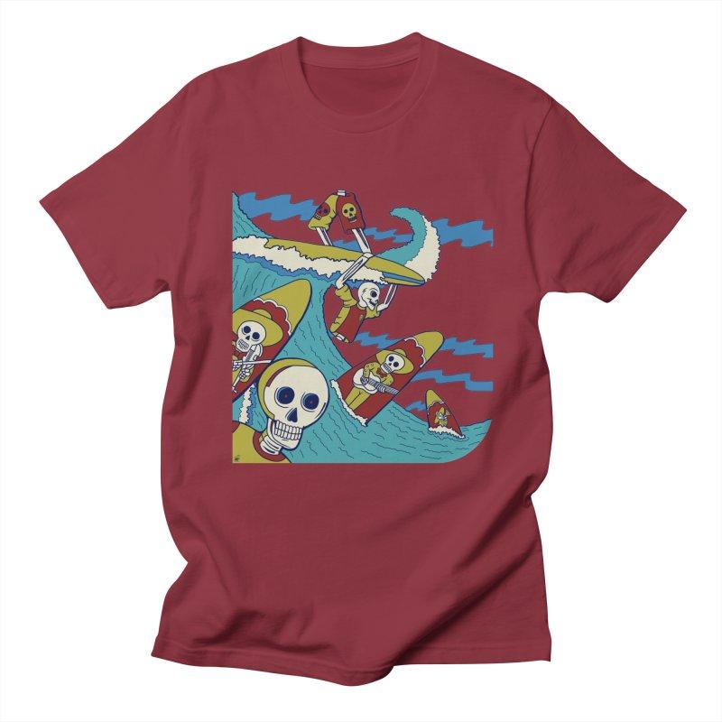 Dia De Los Muertos - Surf Mariachi Men's T-Shirt by Armando Padilla Artist Shop