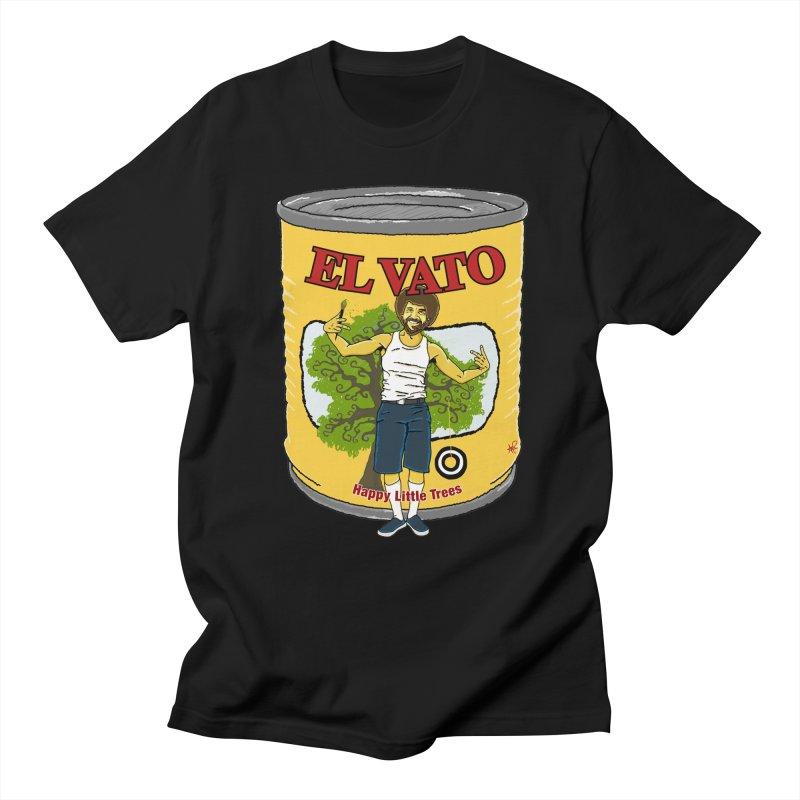 El Vato Ross in Men's T-Shirt Black by Armando Padilla Artist Shop