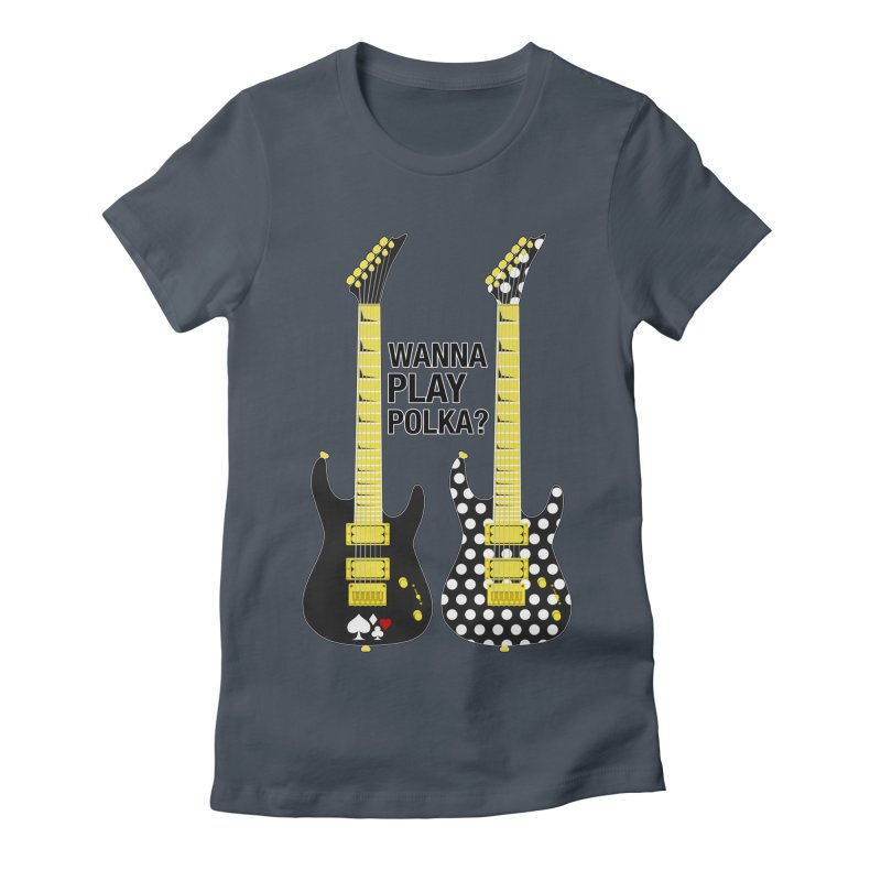 Polka Guitar Women's T-Shirt by Armando Padilla Artist Shop