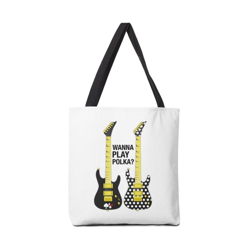 Polka Guitar Accessories Tote Bag Bag by Armando Padilla Artist Shop