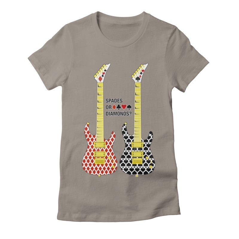 Spades or Diamonds? Women's Fitted T-Shirt by Armando Padilla Artist Shop