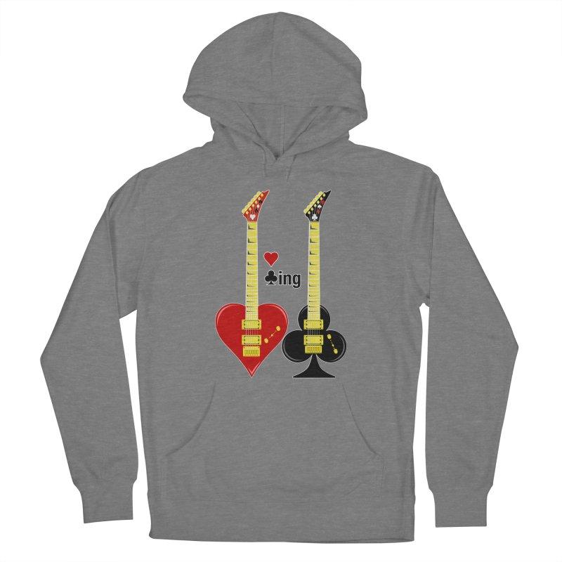 Guitars Love Clubbing Women's Pullover Hoody by Armando Padilla Artist Shop