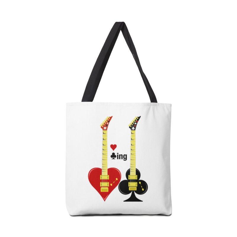 Guitars Love Clubbing Accessories Tote Bag Bag by Armando Padilla Artist Shop