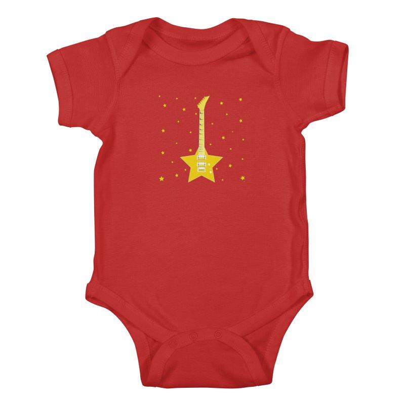 Star Guitar Kids Baby Bodysuit by Armando Padilla Artist Shop