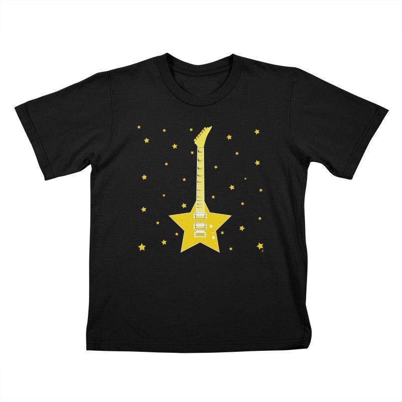 Star Guitar Kids T-Shirt by Armando Padilla Artist Shop