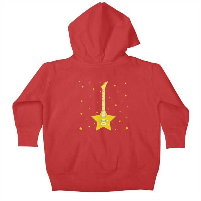 Star Guitar Kids Baby Zip-Up Hoody by Armando Padilla Artist Shop