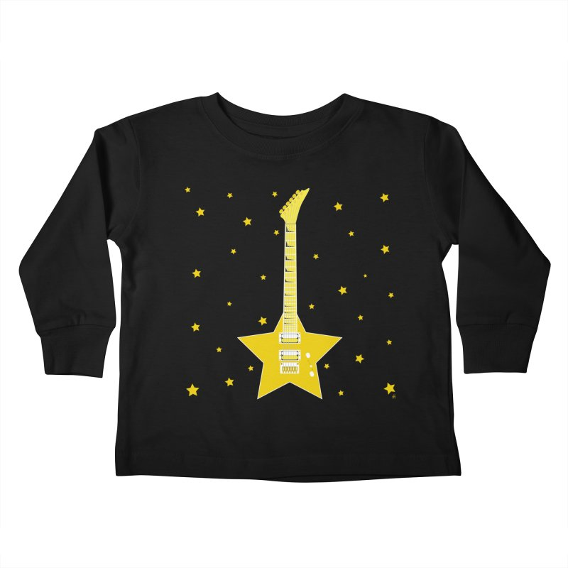 Star Guitar Kids Toddler Longsleeve T-Shirt by Armando Padilla Artist Shop