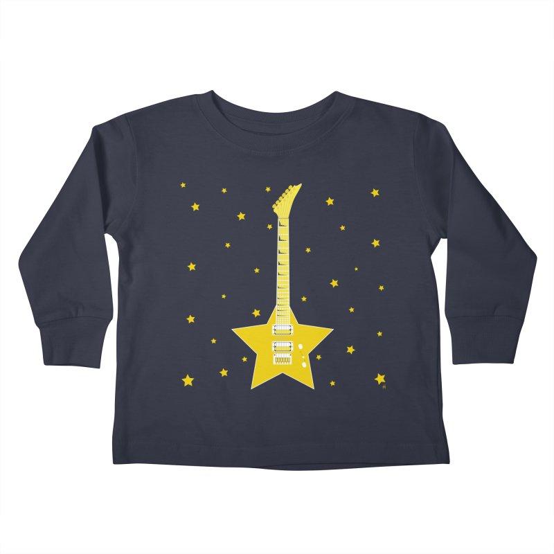 Star Guitar Kids Toddler Longsleeve T-Shirt by Armando Padilla Artist Shop
