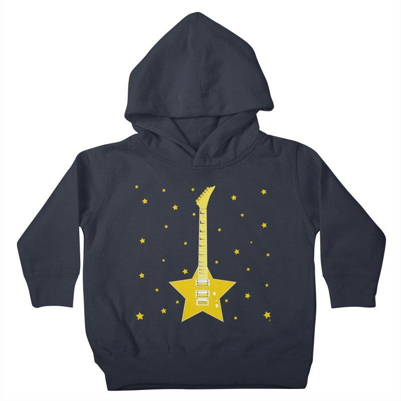 Star Guitar Kids Toddler Pullover Hoody by Armando Padilla Artist Shop