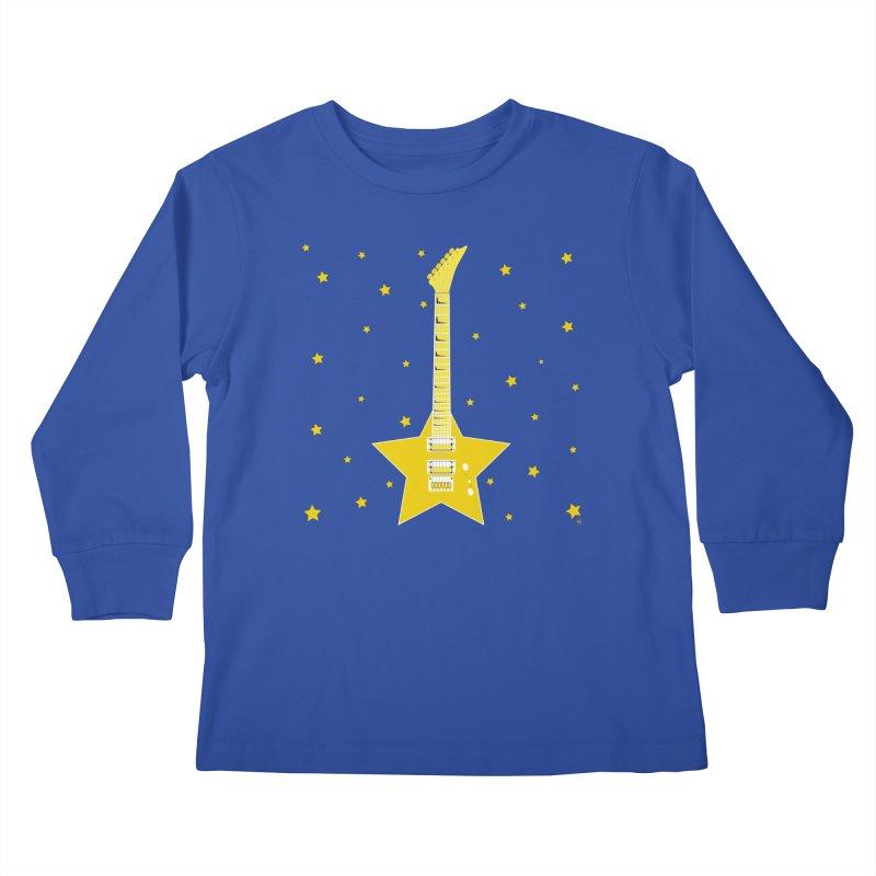 Star Guitar Kids Longsleeve T-Shirt by Armando Padilla Artist Shop