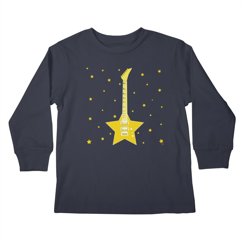 Star Guitar Kids Longsleeve T-Shirt by Armando Padilla Artist Shop