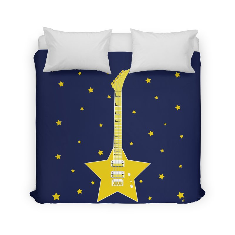 Star Guitar Home Duvet by Armando Padilla Artist Shop