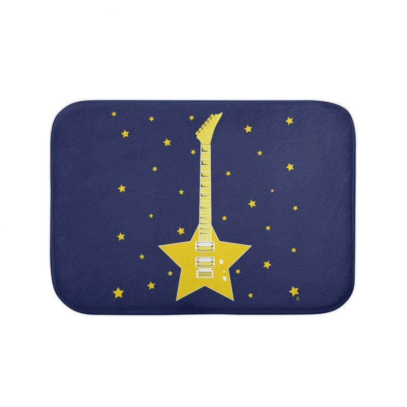 Star Guitar Home Bath Mat by Armando Padilla Artist Shop