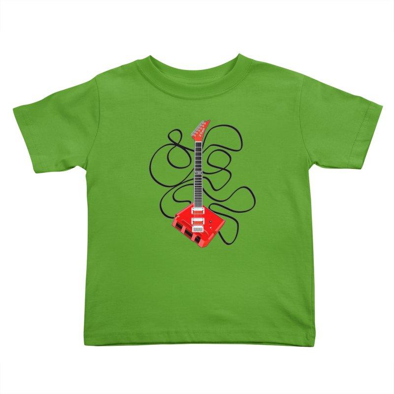 8-Track Guitar Kids Toddler T-Shirt by Armando Padilla Artist Shop