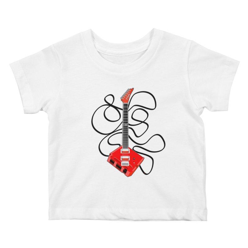 8-Track Guitar Kids Baby T-Shirt by Armando Padilla Artist Shop