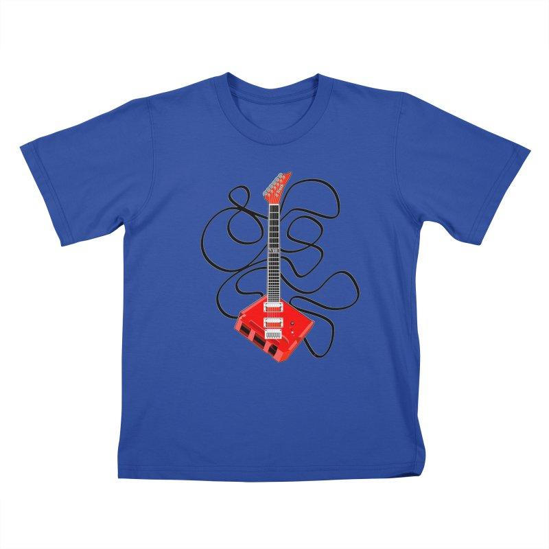 8-Track Guitar Kids T-Shirt by Armando Padilla Artist Shop