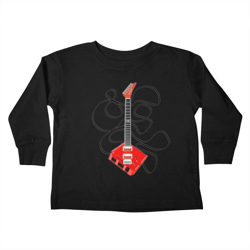8-Track Guitar Kids Toddler Longsleeve T-Shirt by Armando Padilla Artist Shop