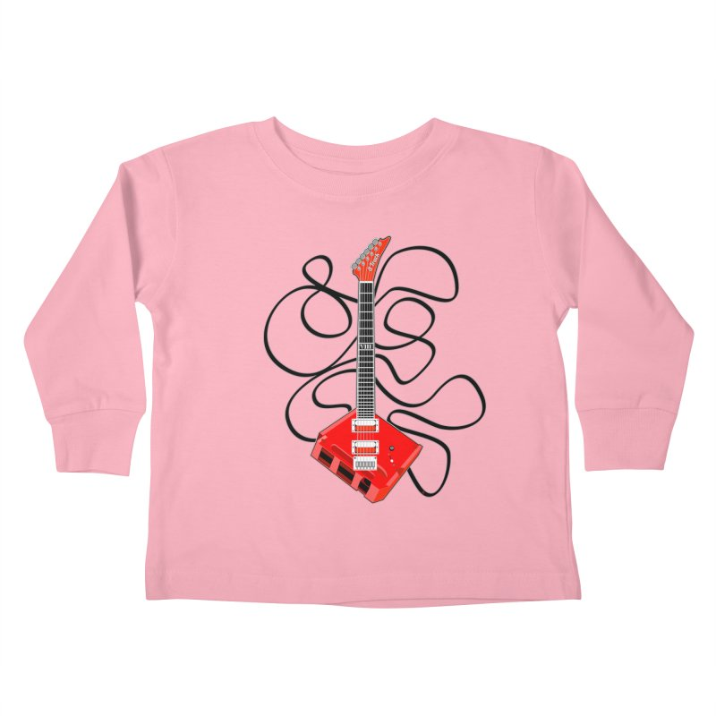 8-Track Guitar Kids Toddler Longsleeve T-Shirt by Armando Padilla Artist Shop