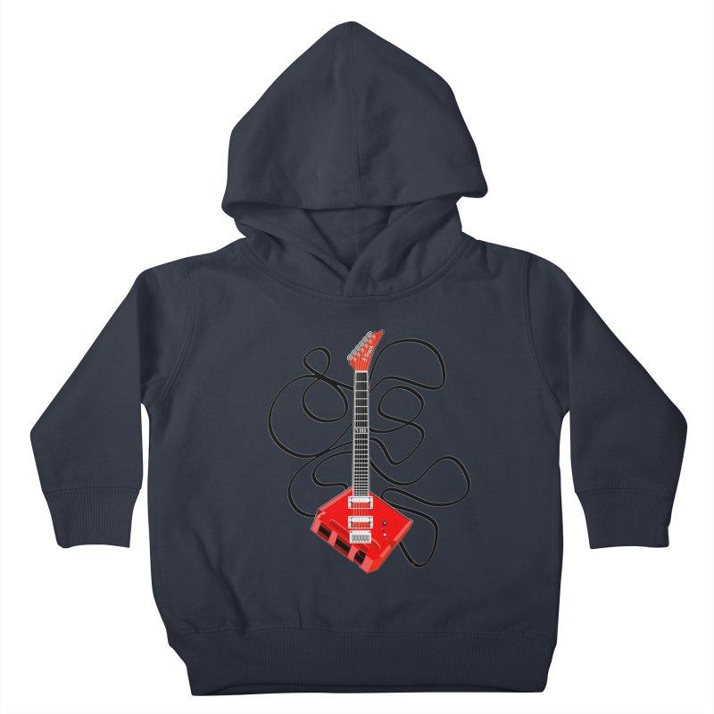 8-Track Guitar Kids Toddler Pullover Hoody by Armando Padilla Artist Shop