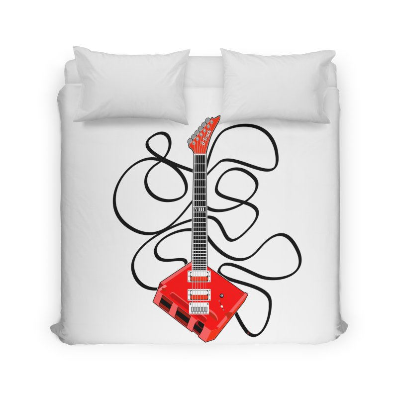8-Track Guitar Home Duvet by Armando Padilla Artist Shop