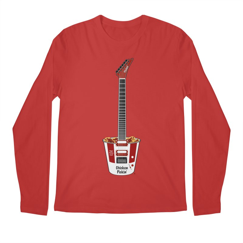 Chicken Pickin' Men's Regular Longsleeve T-Shirt by Armando Padilla Artist Shop
