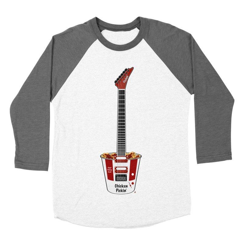 Chicken Pickin' Women's Baseball Triblend Longsleeve T-Shirt by Armando Padilla Artist Shop