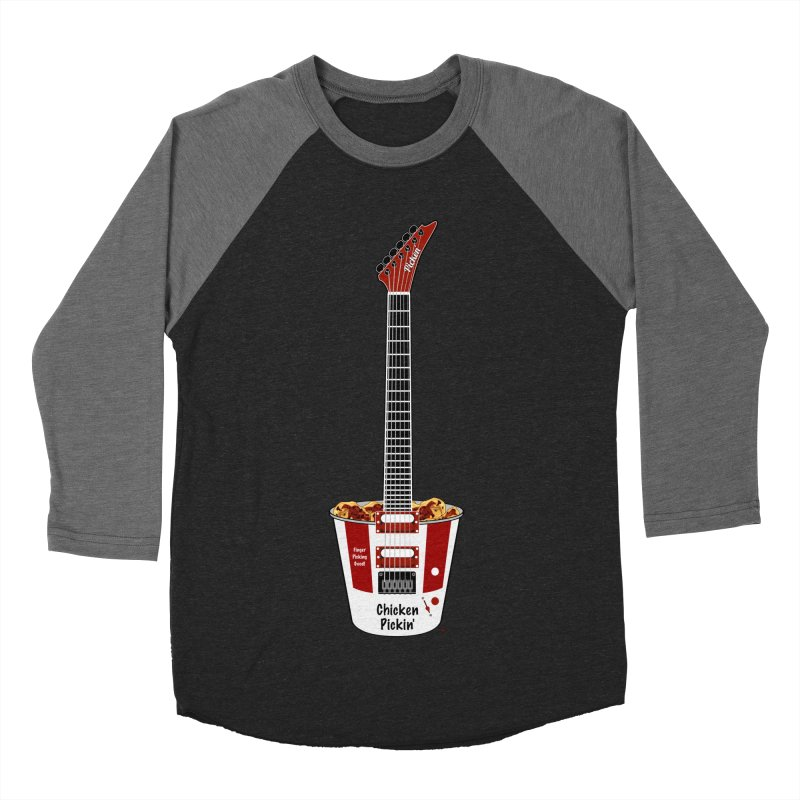 Chicken Pickin' Men's Baseball Triblend Longsleeve T-Shirt by Armando Padilla Artist Shop