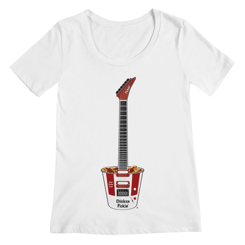 Chicken Pickin' Women's Regular Scoop Neck by Armando Padilla Artist Shop