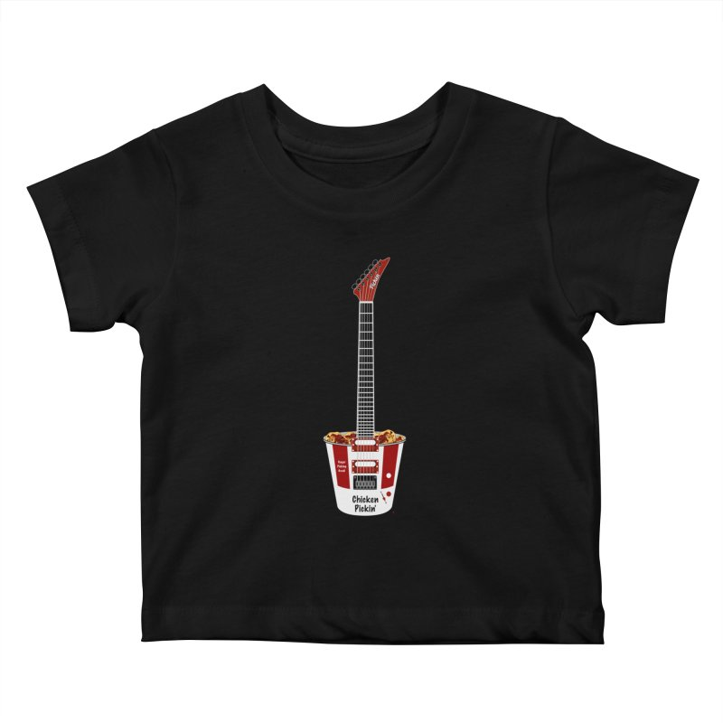 Chicken Pickin' Kids Baby T-Shirt by Armando Padilla Artist Shop
