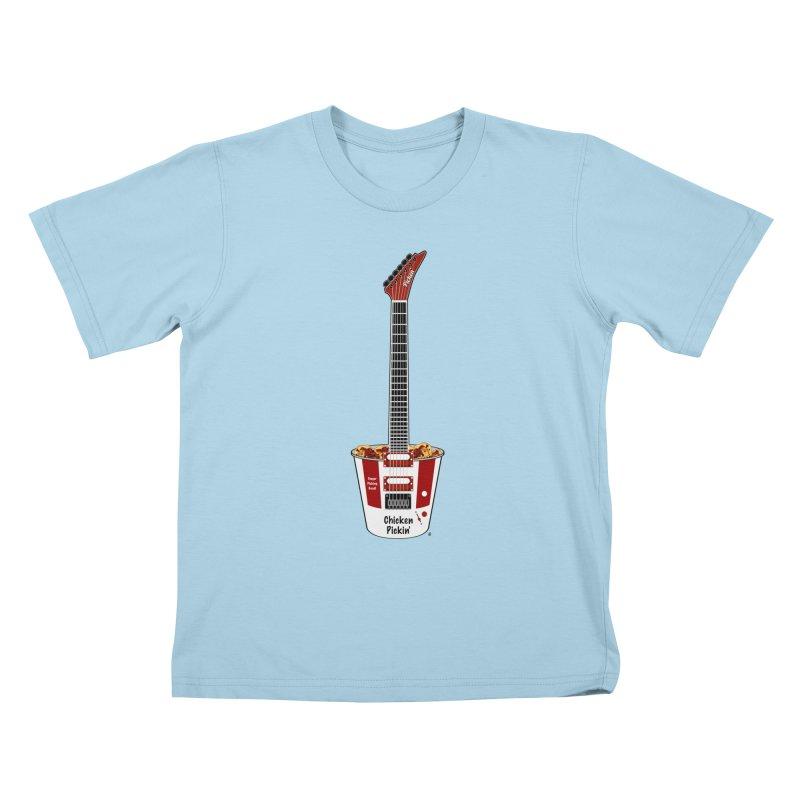 Chicken Pickin' Kids T-Shirt by Armando Padilla Artist Shop