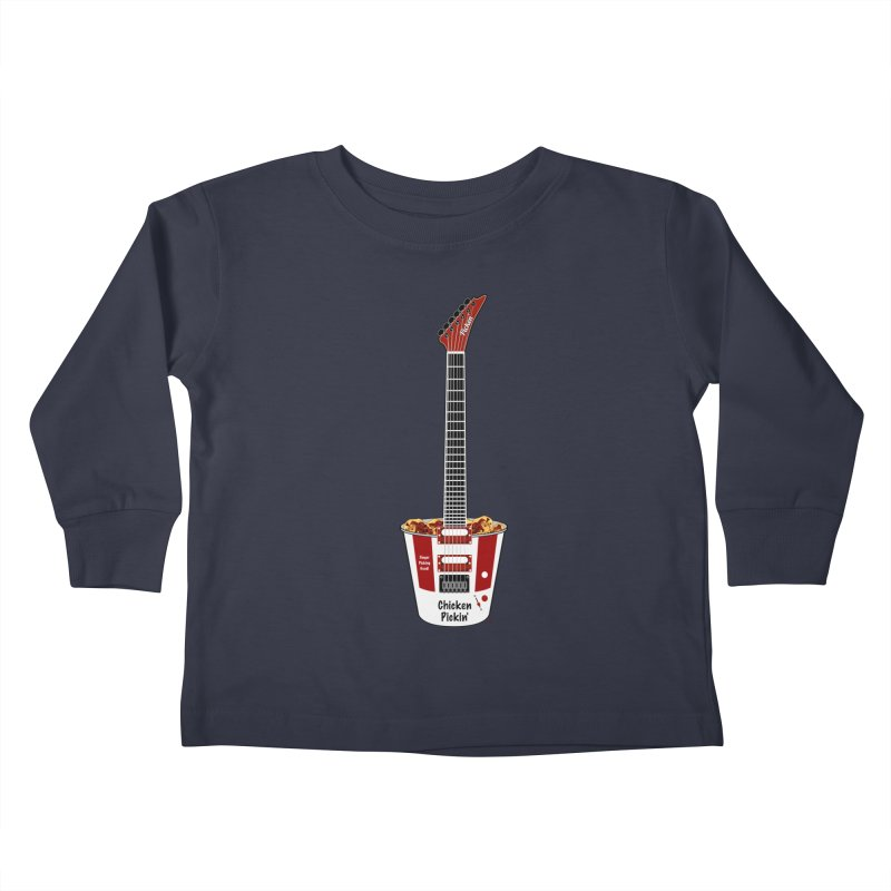 Chicken Pickin' Kids Toddler Longsleeve T-Shirt by Armando Padilla Artist Shop