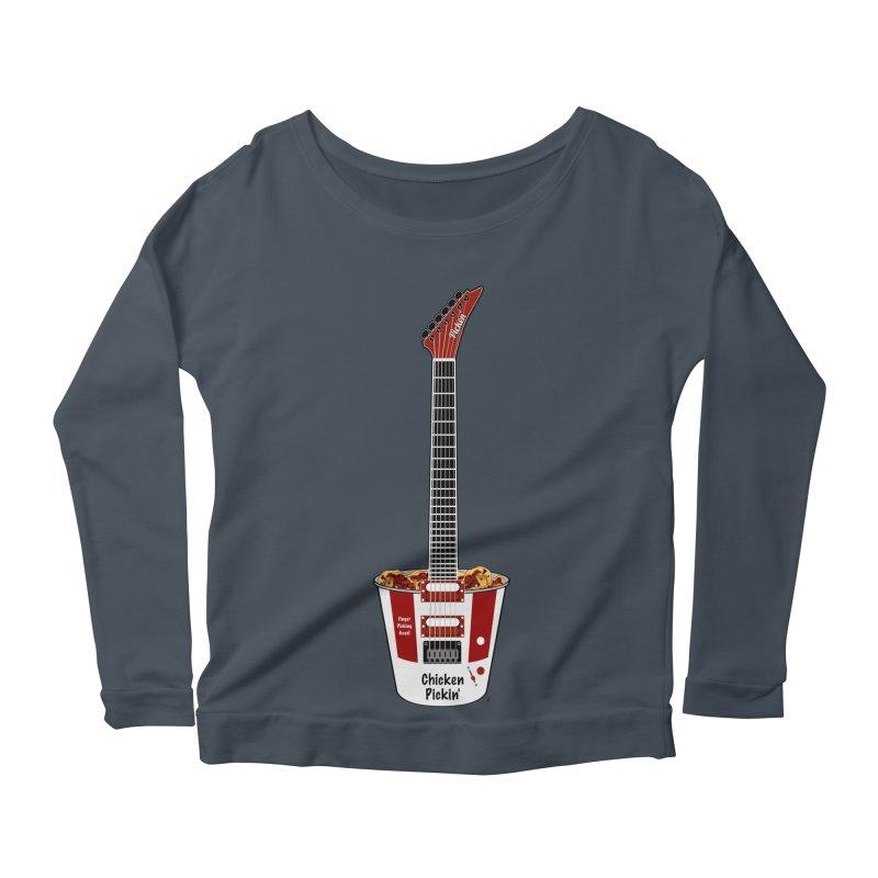 Chicken Pickin' Women's Scoop Neck Longsleeve T-Shirt by Armando Padilla Artist Shop